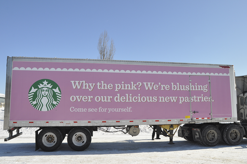 Starbucks Trailer Side Wrap