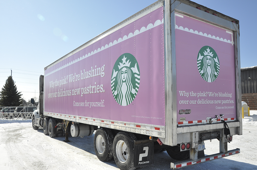 Starbucks Trailer Wrap